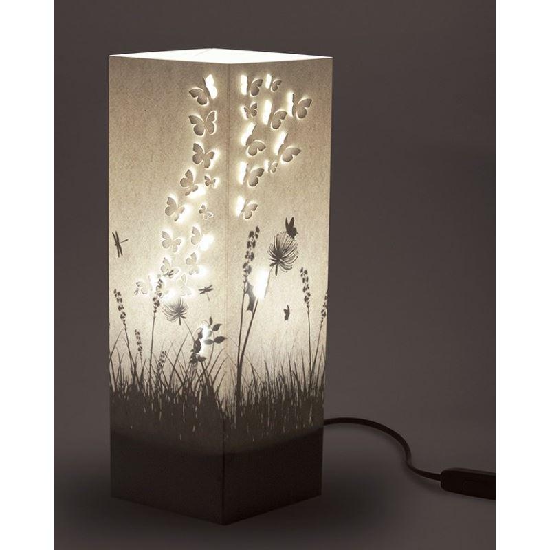 Lampe poser jardin et envol e de papillon wlamp de l for Lampe a poser rectangulaire