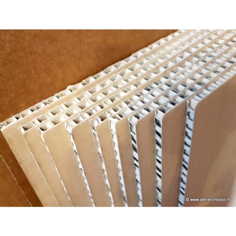 carton alv ol nid d 39 abeille 50 x 65 cm epaisseur 1 cm. Black Bedroom Furniture Sets. Home Design Ideas