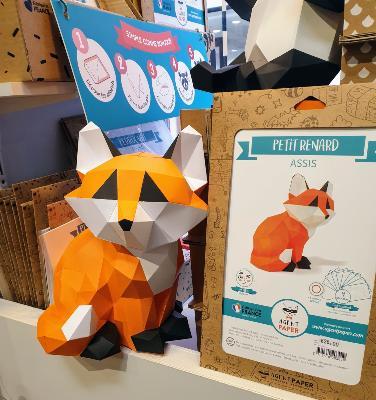 Kit fabrication renard en papier origami agent paper atelierchezsoi