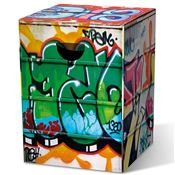 Tabouret en carton Graffiti Remember