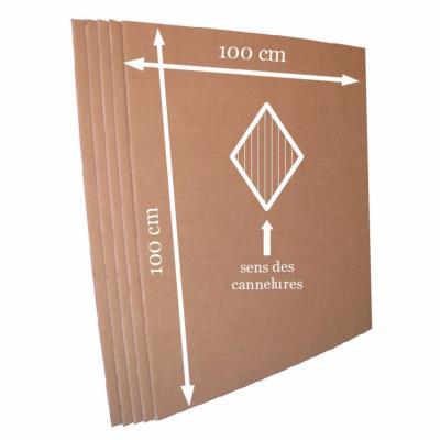 plaque de carton double cannelure
